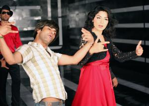 Sonu Dangerous and Meera rehearse for a commercial. Photo courtesy: Sonu Dangerous