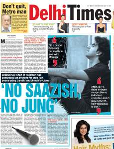 No Saazish No Jung - Times of India, July14-09-