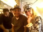 Heather & Rafay onplane