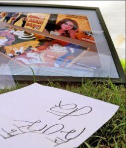 Framed print after vandalisation