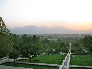 Sunset over Bagh-e-Babar