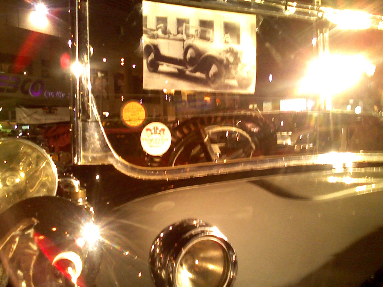 Close up of vintage car at the