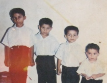 Photo from 13 years ago, of Idrees Alam's sons in Karachi: Harish, Vaish, Asad, and Aisan.