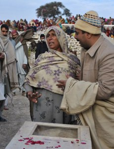 Jan 8, 2013: A grieving mother, mourning her son, Lance Naik Mohammad Alam.