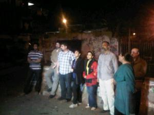 Karachi, 3.30 am: protestors, galvanised by a shoutout by @abidifactor on twitter, gathered at the Press Club in solidarity with the Quetta dharna.