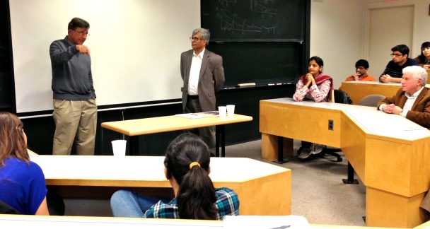 Indian and Pakistani scientists for peace: Pervez Hoodbhoy and Subrata Ghoshroy last week at MIT