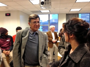 Dr Hoodbhoy found himself surrounded by people wanting to meet him and ask more questions.