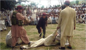 Swat, 2009: A reminder of the Taliban's brand of 'justice' - public floggings were the least of their punishments. Photo: European Pressphoto Agency
