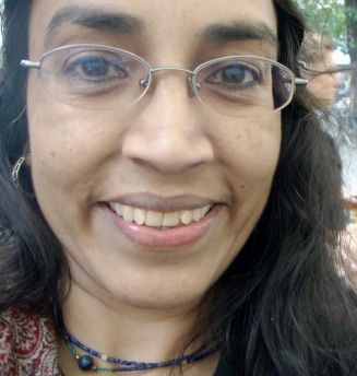 Parveen: A 'selfie' she took in Stockholm, 2008. Photo: courtesy Arif Pervaiz.