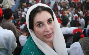 Benazir Bhutto, arrival in Karachi, 2007. Photo: Daniel Berehulak/Getty Images