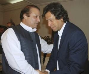 Nawaz Sharif and Imran Khan, 2007. Post election 2013 - allies again? AP photo