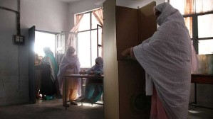 Dehdan Village: women vote in Pakistan's general election on May 11. More women were registered to vote than in any previous poll in the country. Photo: Ben Doherty/Brisbane Times