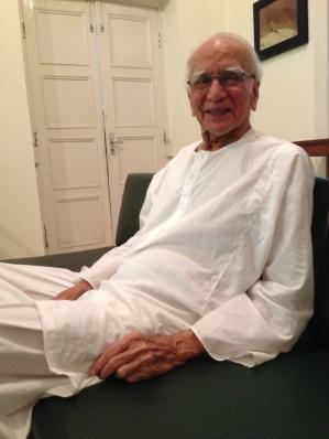 Dr Mubashir Hasan, Lahore, 2013: A Southasian vision. Photo: Beena Sarwar