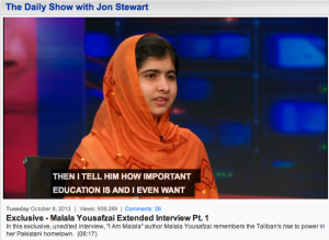 Malala on Daily Show