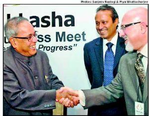 Pranab Mukerjee and Shahrukh Hasan