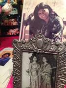 Photos on display at the memorial last week.