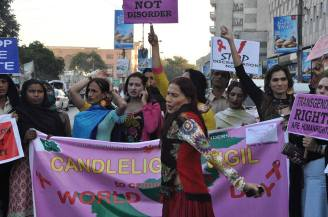 GIA demo in Karachi (file photo): Human beings must be treated equally, regardless of gender or sexual orientation