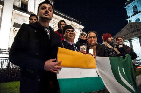 Indo Pak Global Peace Vigil, London. Photo by Ali Mehdi Zaidi