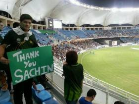 #ThankYouSachin at #PakvSA —  @Sarkhail7Khan. Nov 15, 2013