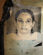 Photo from her charred Pakistani passport