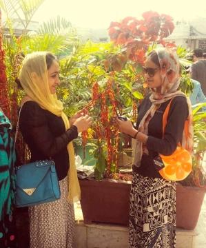 Nitu and Kiran at Haji Ali's Dargah