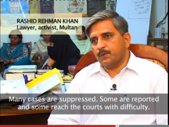 Rashid Rehman- screenshot from Mukhtiar Mai documentary