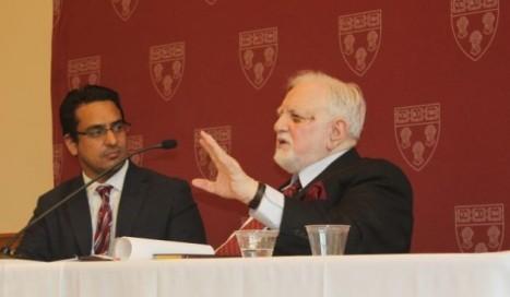 Amjad Mahmood Khan (L) and Mujeeb-ur-Rahman at Harvard Law School. Photo: Beena Sarwar