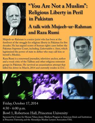 Princeton event flyer
