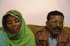 Shama's sister Yasmeen Bibi, with their father Mukhtar Masih. Photo: Asif Aqeel, World Watch Monitor