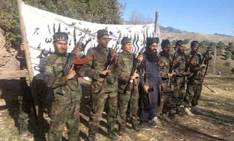 Photo of the attackers released by TTP on Dec 17 shows them in the para-military uniforms that they wore for the attack. AP