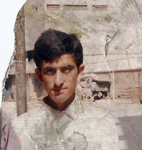 Shafqat Hussain - more than 10 years ago, before he left his village in AJK
