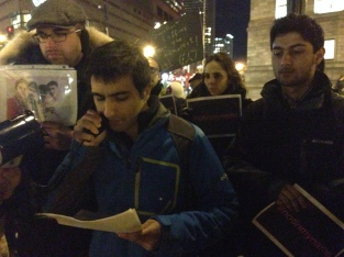 Pakistanis against terrorism: Shehroz Hussain speaking at the global protest vigil on Jan 16, in Boston