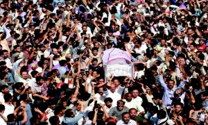 Another day, another mass funeral. This time, Shikarpur.
