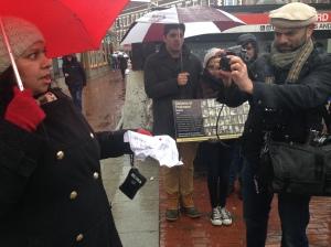 Chanta Bhan of Tufts University: Need to unite against terrorism. Photo: Beena Sarwar