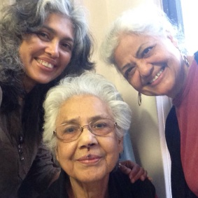 June 23, 2015, Khala Ammi (centre), less than 24 hours before she left us forever
