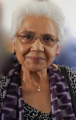 Ruqaiya Hasan, Hong Kong, Feb 2015. Photo by Lexie Don