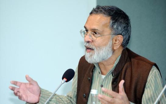Praful Bidwai (Journalist, Aktivist, Indien); Foto: Stephan Röhl
