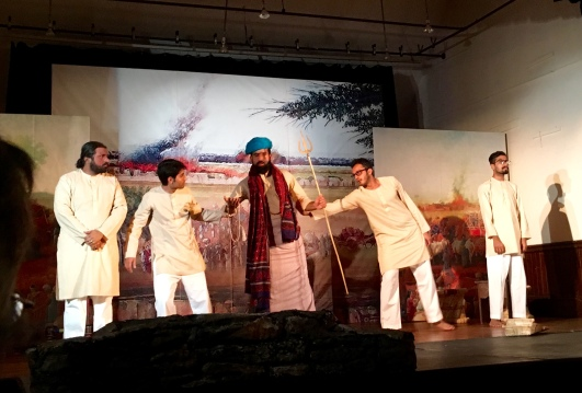 Opening scene from 'Dagh Dagh Ujala', at Grace Vision Church, Watertown MA, Oct 24, 2015.