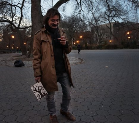 Haider in NY. Photo by Douglas Paul Smith who was (is) making a documentary on him.