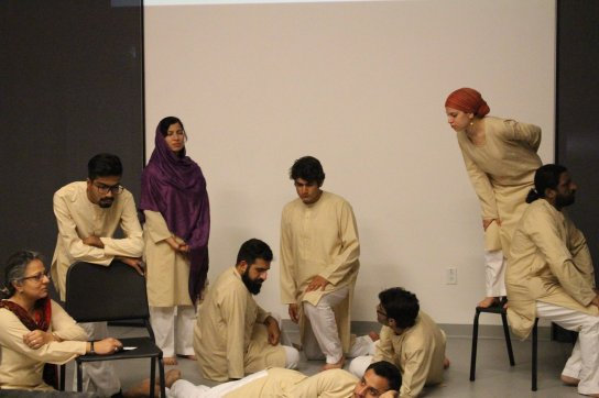 Lecture performance at The Boston Conservatory. Photo: Theatre Wallay Facebook page.