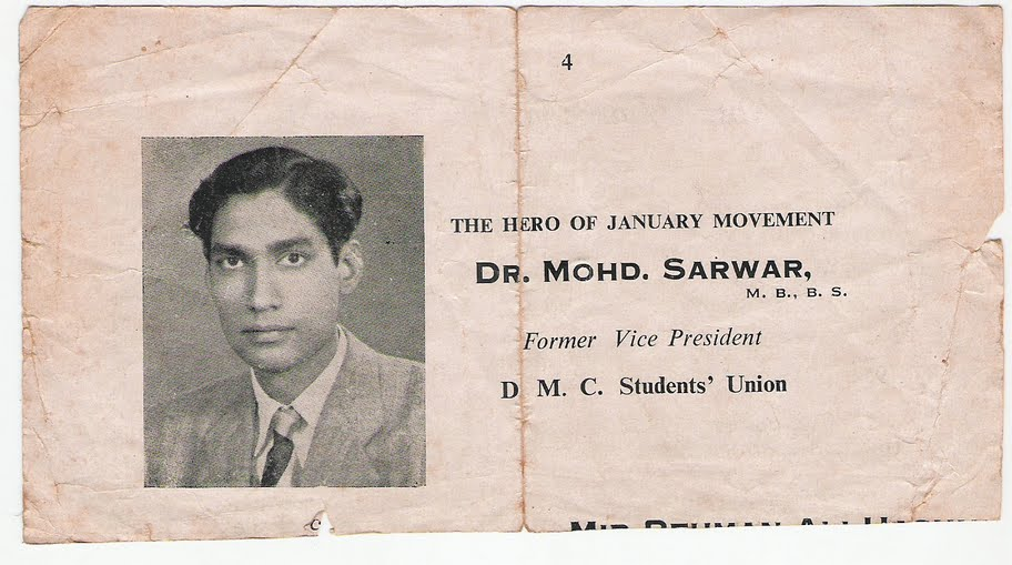 cutting-Dr Sarwar 'hero of Jan movement'