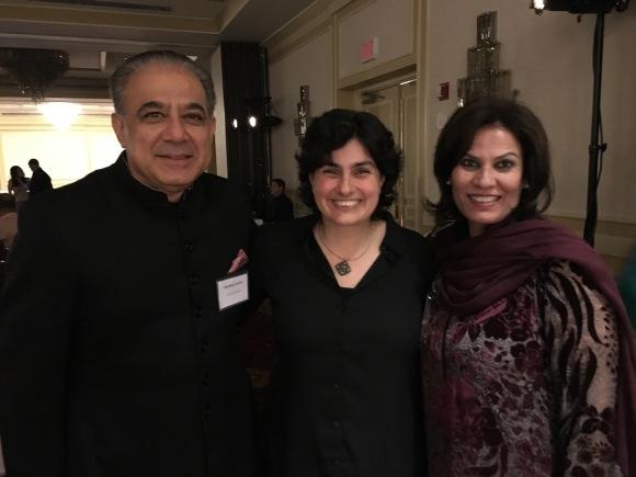 Nergist Mavalvala with Zeba & Mahmud Jafari