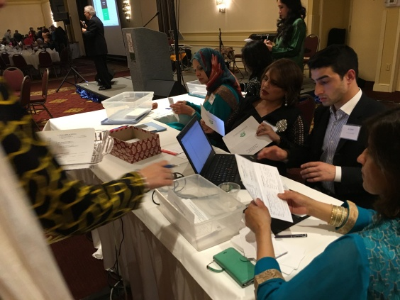TCF volunteers tallying donations-Beena Sarwar