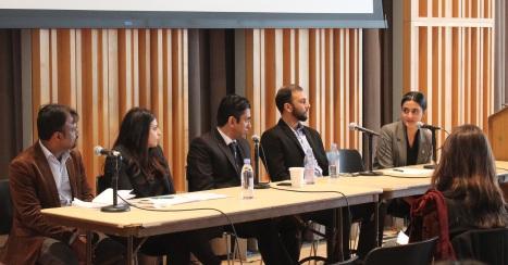 L to R - Kapil Dev, Ameena Zia, Yasser Latif Hamdani, Qasim Rashid, Hira Azhar