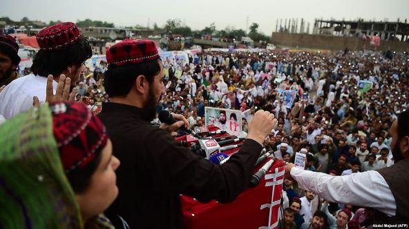 Manzoor Pashteen, PTM leader, Peshawar-8April-RFEL