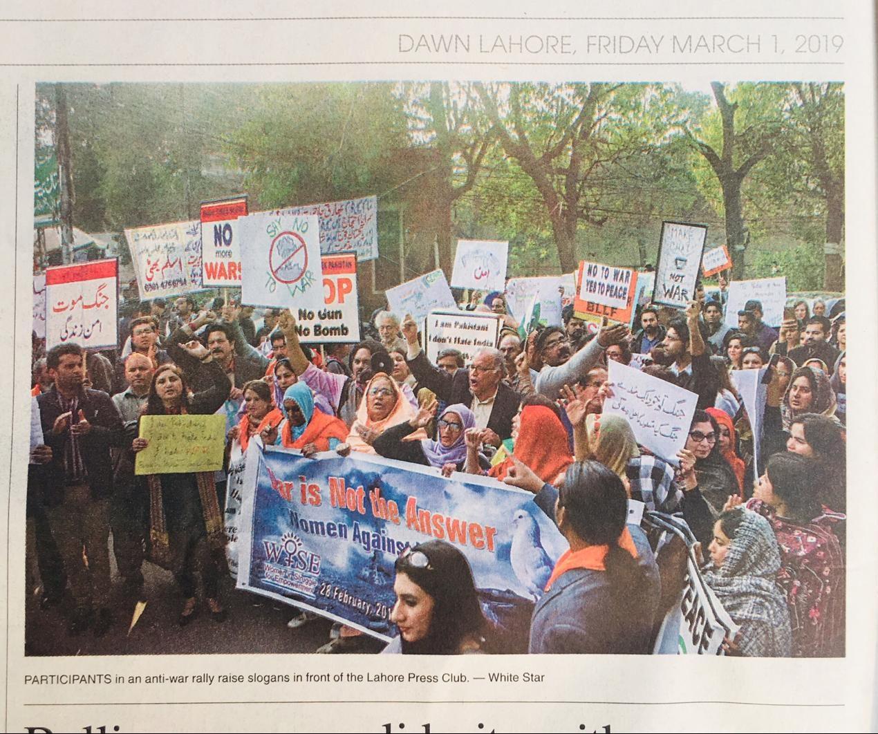 India, Pakistan #SayNoToWar: Global StandOut for Peace in